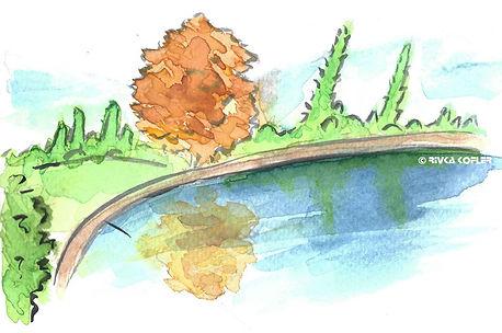 ציור אגם המראה