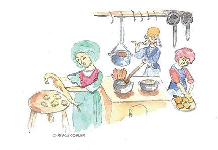 ציור עובדי מטבח