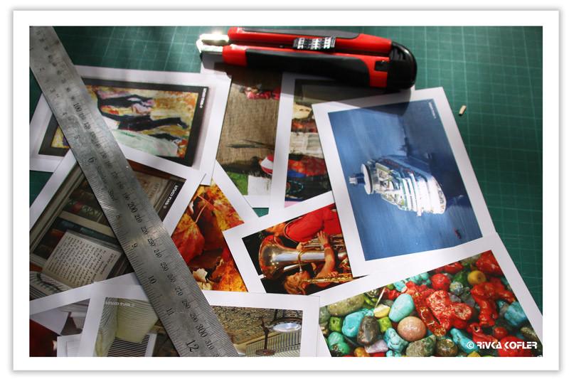 תמונות, סכין חיתוך, סרגל