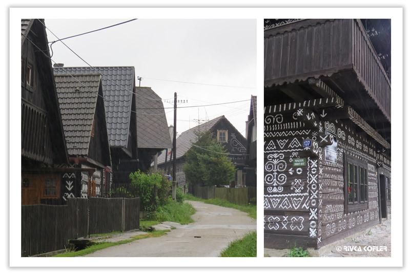 רחוב ובית מצוייר  - Čičmany