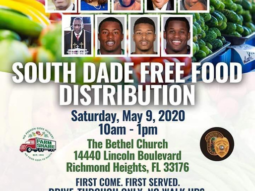 South Dade Free Food Distribution May 9th