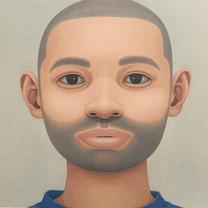 Portrait - beard (blue T-shirt)
