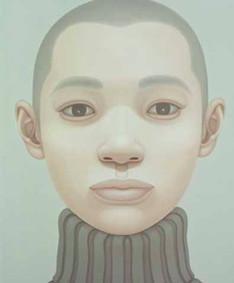 portrait-gray turtle-neck sweater