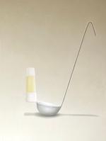 Ladle and wrinkle - free glue