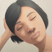 Portrait - resting head on arm