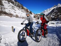 Winter Biking Zermatt with our Fat Bikes