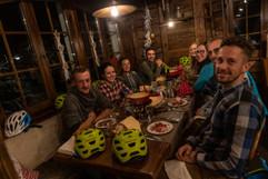 Fondue Ride with the Fat Bikes in the restaurant Gitz Gädi