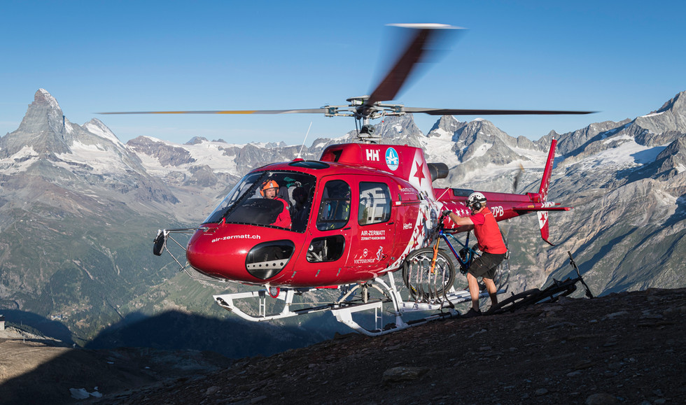 Heli Biking Zermatt