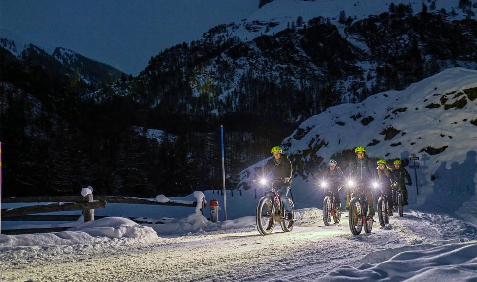Winter bike-night actions