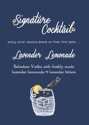Signature Cocktail Menu Signage