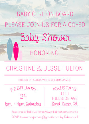Baby Shower Inviation