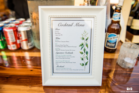 Cocktail Menu Signage