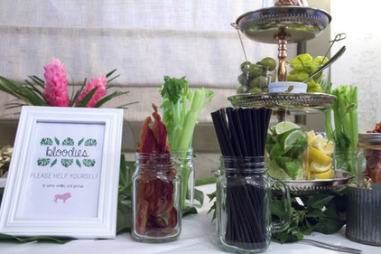 Baby Shower Bloody Mary Bar