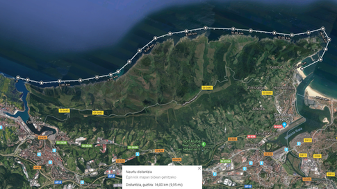 13. Pasaia-Hondarribia 16 km