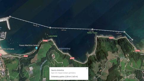 6. Getaria-Zarautz 2.3km