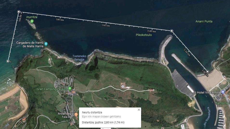 8. Zarautz-Orio 2.8km