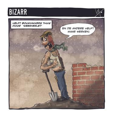 Bizarr construction worker