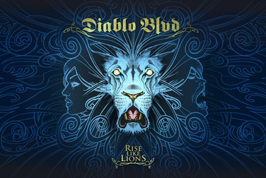 """Diablo Blvd - Rise Like Lions  Cover for the 7"""" single, released 2013."""