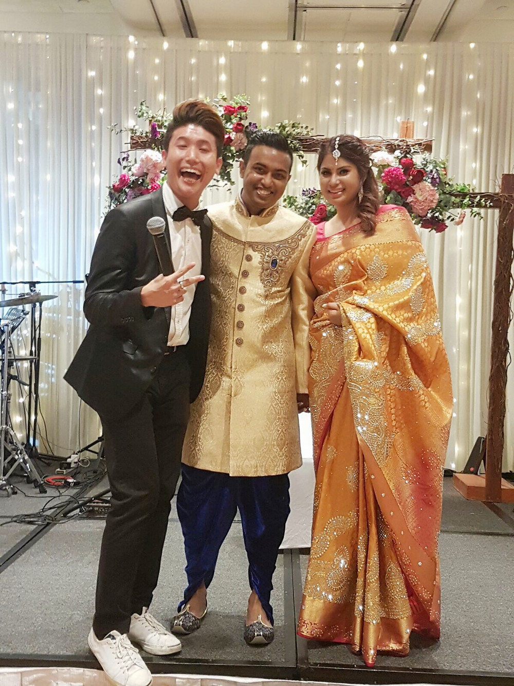 Emcee Singapore - Ainsley Chong, Wedding Dinner of Aaron Rajadurai and Melanie Weller