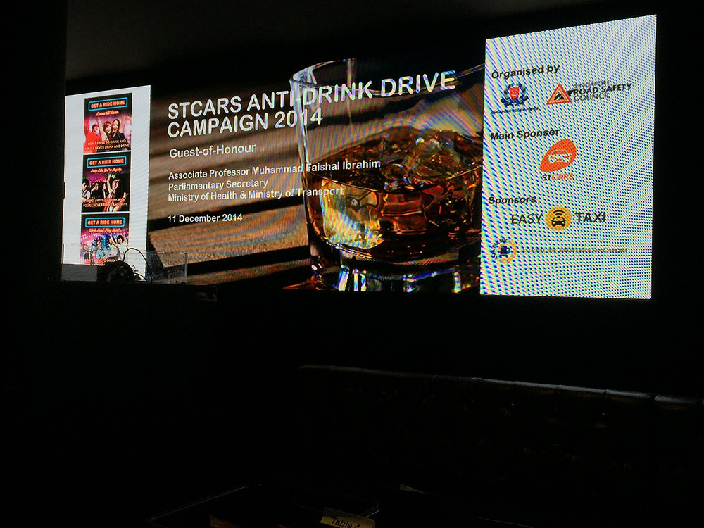 Emcee Singapore - Ainsley Chong, Launch of STCars Anti-Drink Drive Campaign