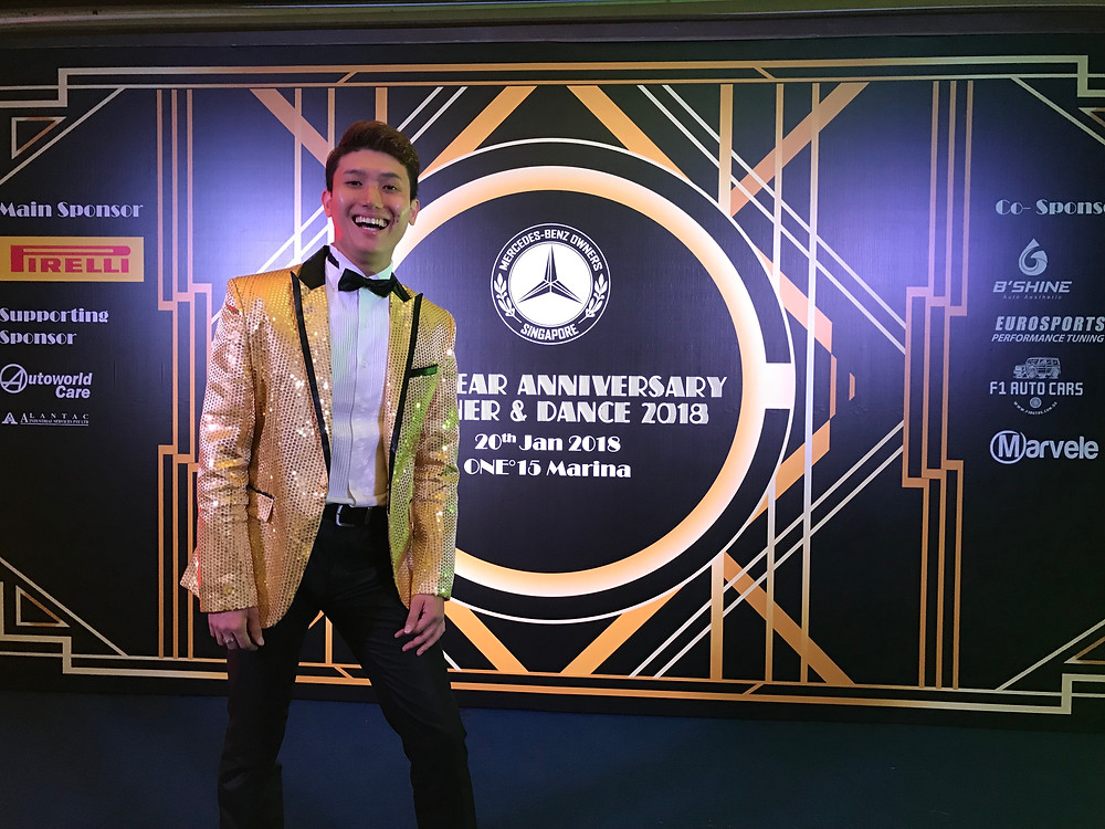 Emcee Singapore - Ainsley Chong, Mercedes Benz Owners Club Singapore Dinner & Dance 2018