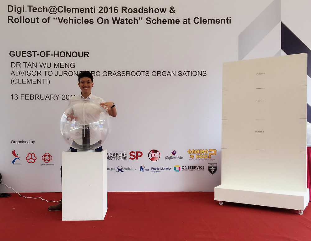 Emcee Singapore - Ainsley Chong, Launch of Digi.Tech@Clementi 2016