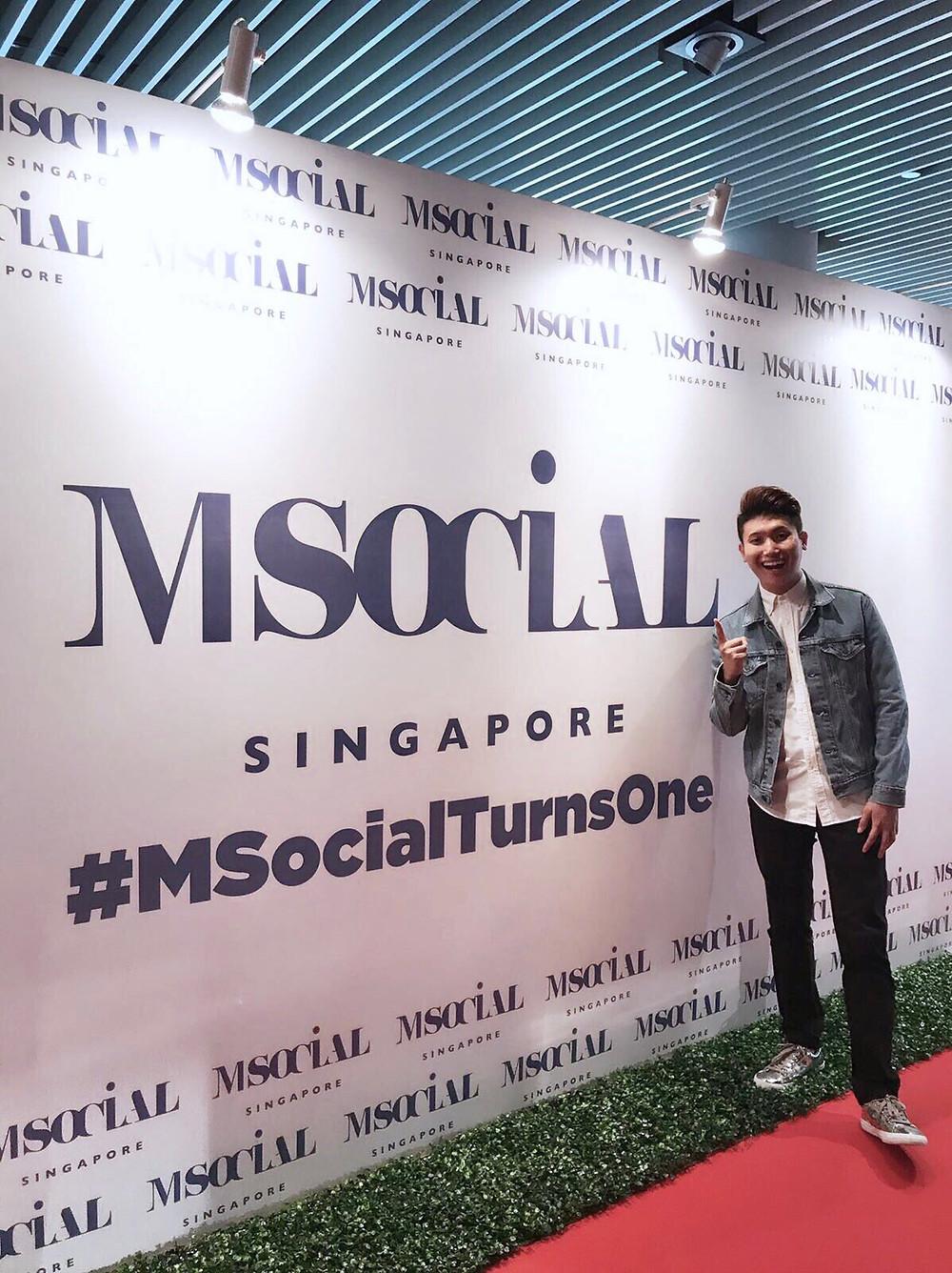 Emcee Singapore - Ainsley Chong, M Social Singapore 1st Year Anniversary