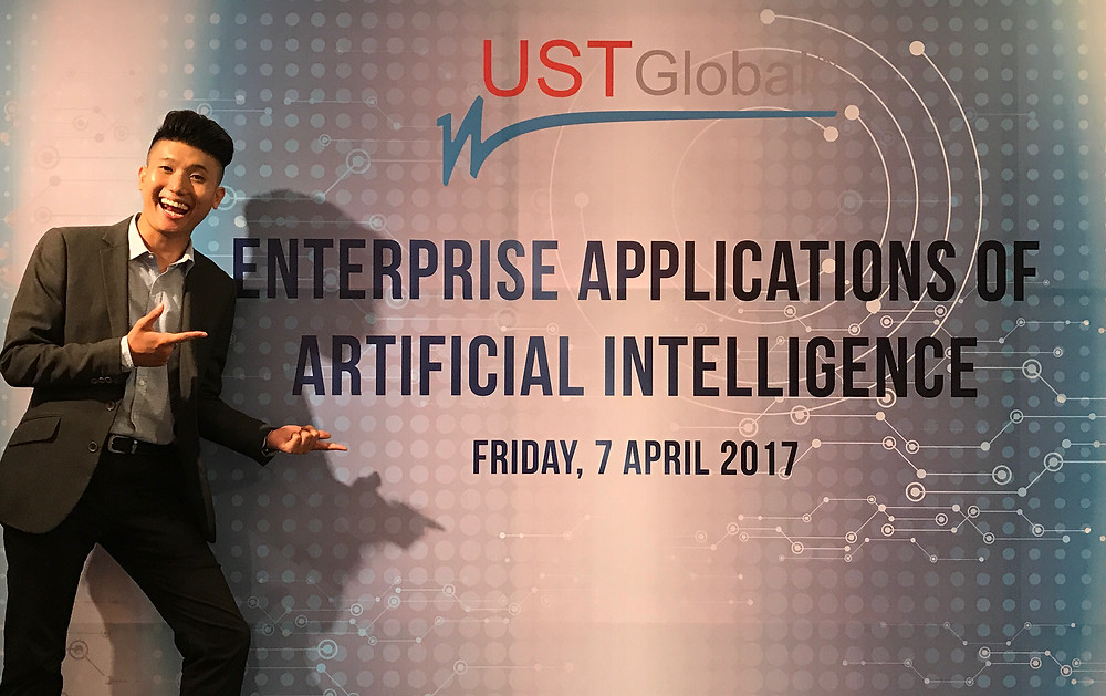 Emcee Singapore - Ainsley Chong, UST Global Enterprise Applications of Artificial Intelligence