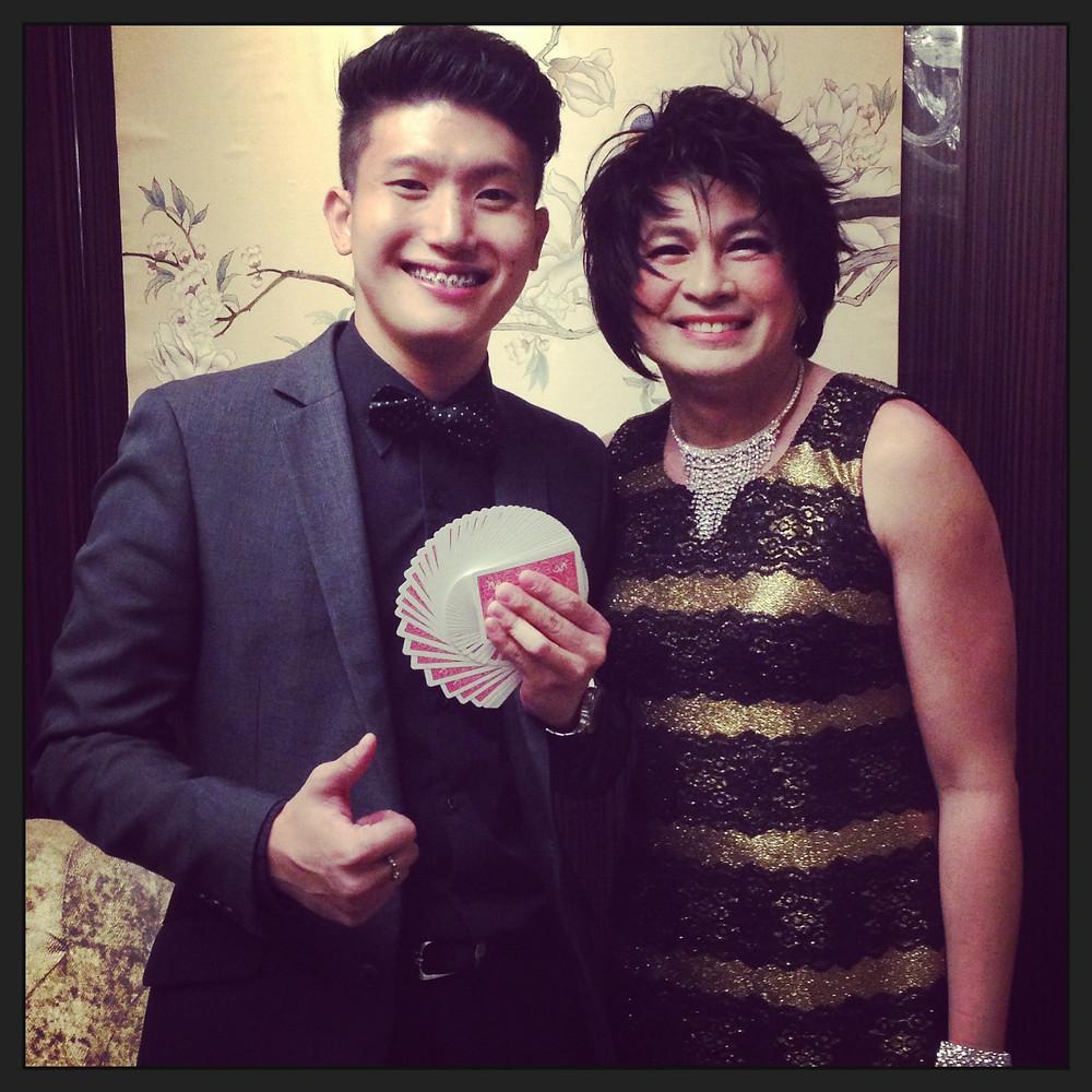 Emcee Singapore - Ainsley Chong, Meritus Hotels & Resorts Customers' Appreciation Dinner
