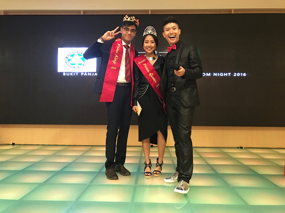 Emcee Singapore - Emcee Ainsley Chong, Bukit Panjang Government High School Prom Night 2016 2