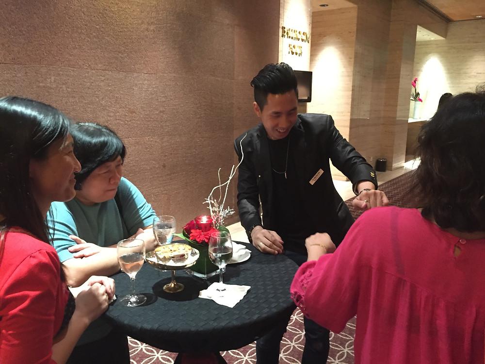 Emcee Singapore - Ainsley Chong, Sheraton Towers Hotel Singapore Christmas Dinner