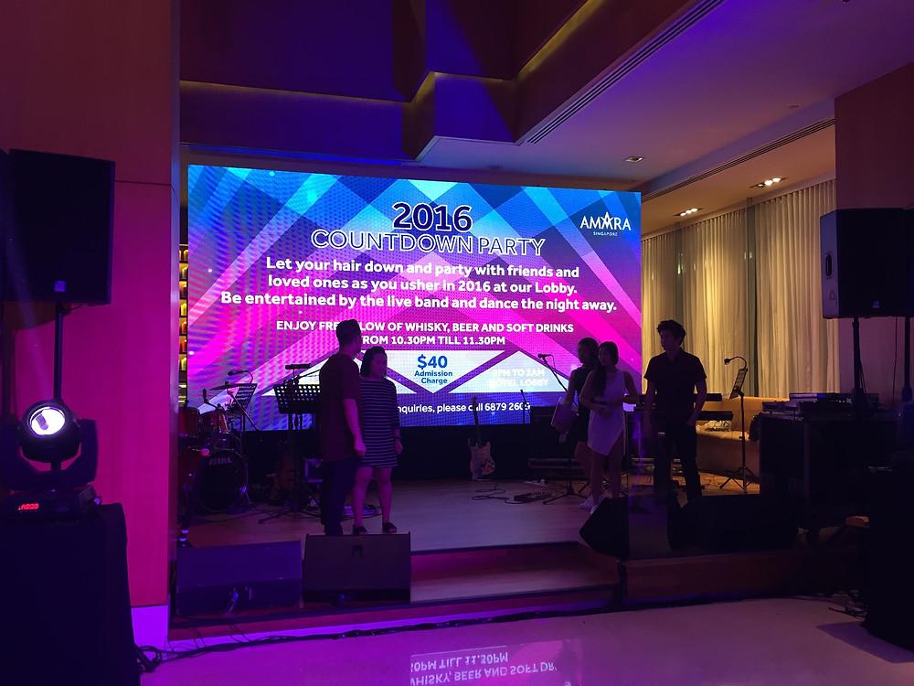 Emcee Singapore - Ainsley Chong, Amara Hotel Countdown to 2016