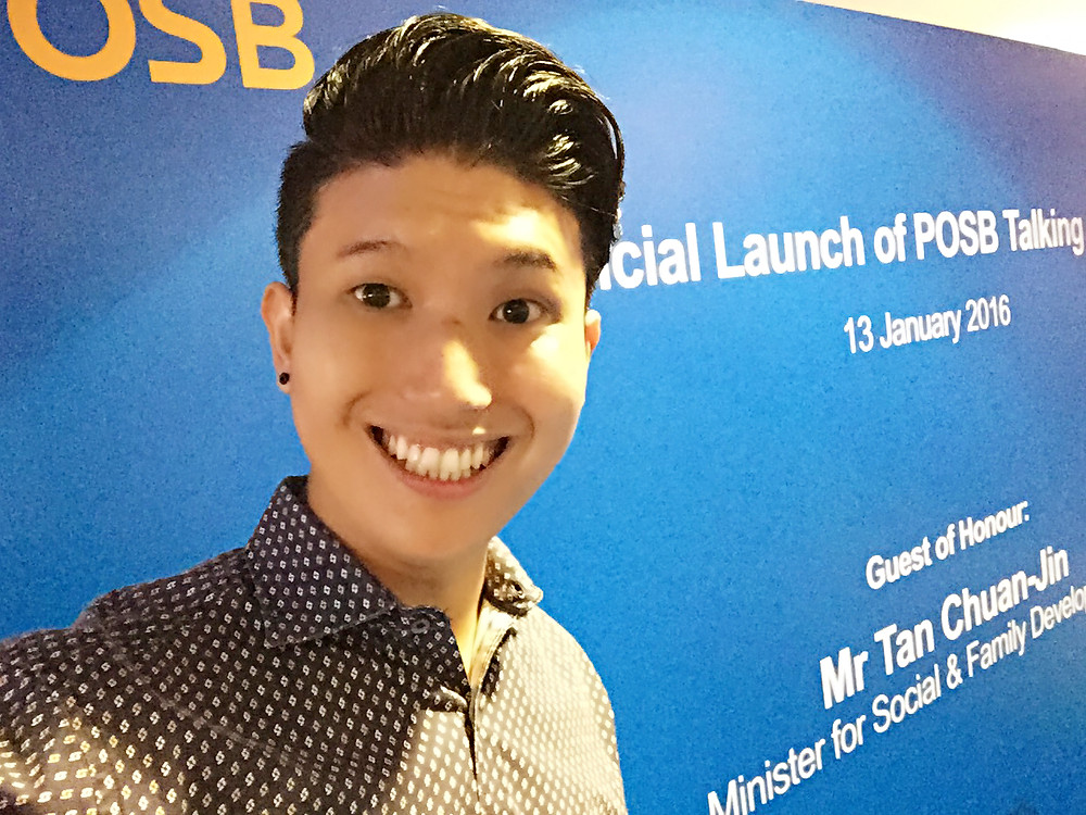 Emcee Singapore - Ainsley Chong, Launch of POSB Talking ATMs