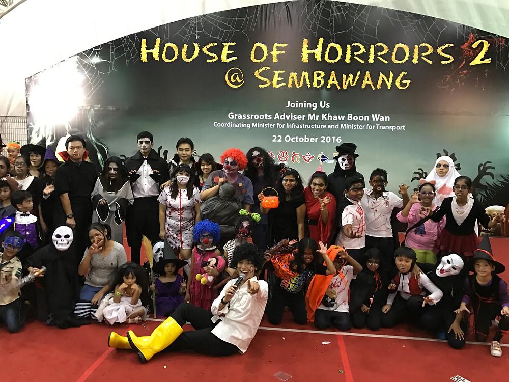 Singapore Emcee - Ainsley Chong, Sembawang CC House of Horrors 2 6