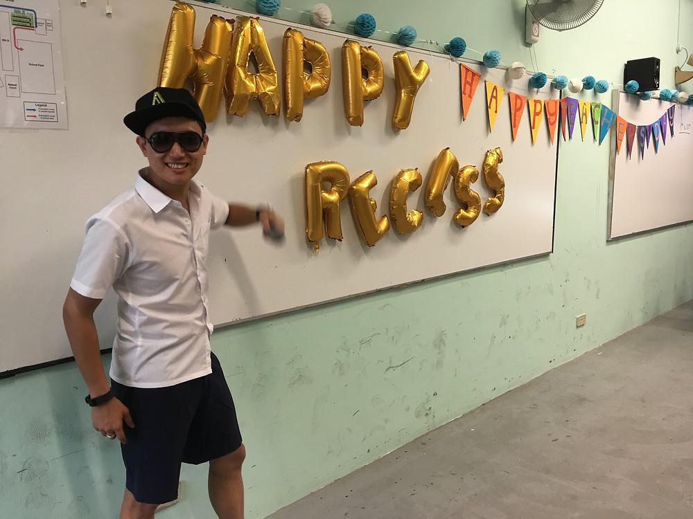 Emcee Singapore - Ainsley Chong, Junyuan Secondary School Teachers' Day Lunch 3