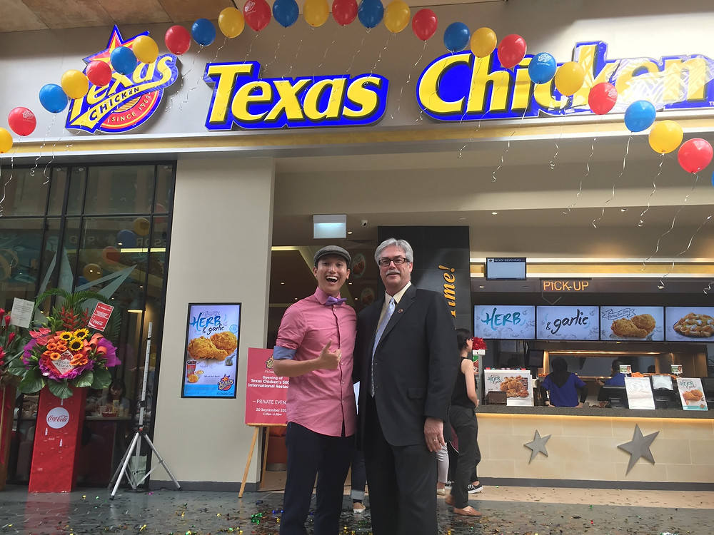 Emcee Singapore - Ainsley Chong, Opening of Texas Chicken's 500th International Restaurant 3