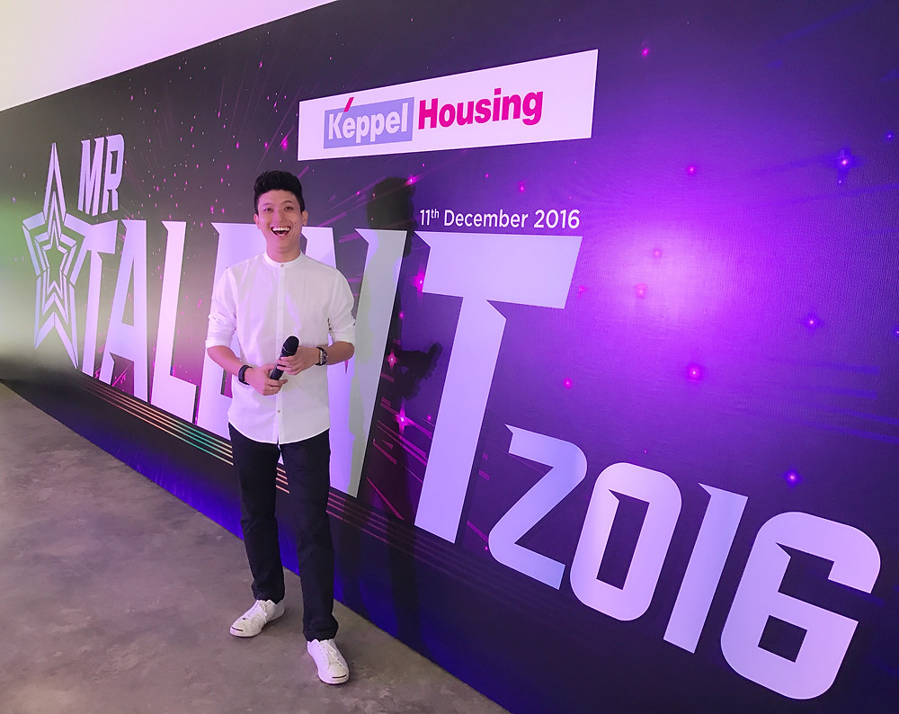 Emcee Singapore - Ainsley Chong, Keppel Housing Mr Talent 2016