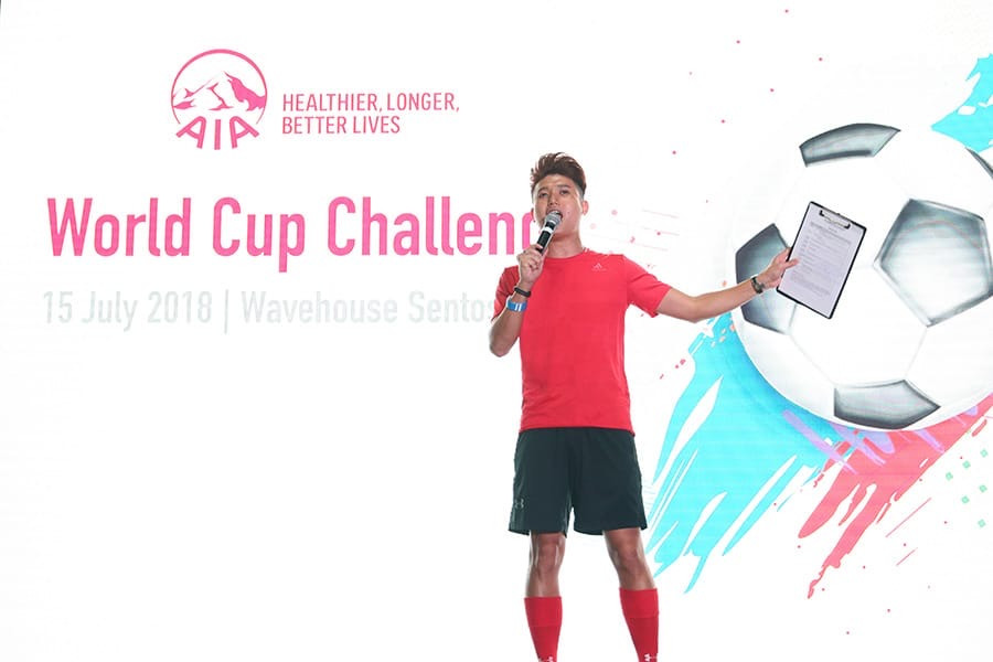 Emcee Singapore - Ainsley Chong, AIA World Cup Challenge @ World Cup Finals 2018
