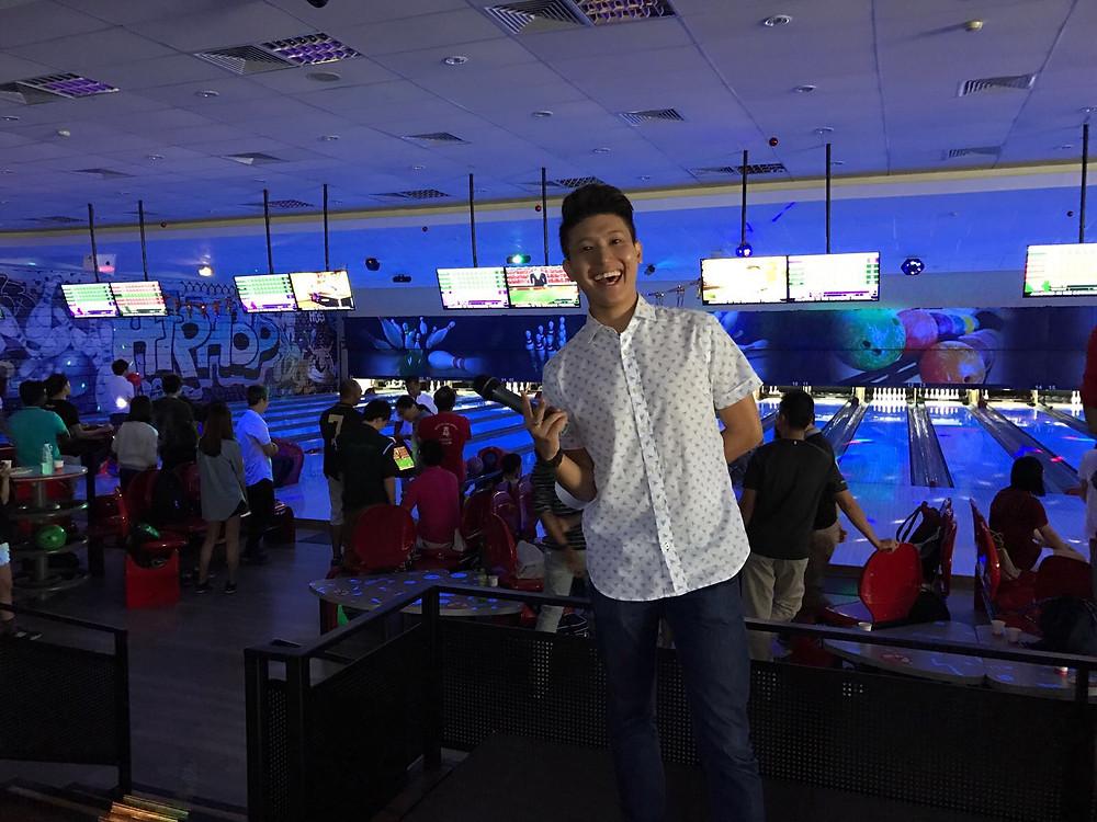 Emcee Singapore - Ainsley Chong, Murata Electronics Singapore Cosmic Bowling