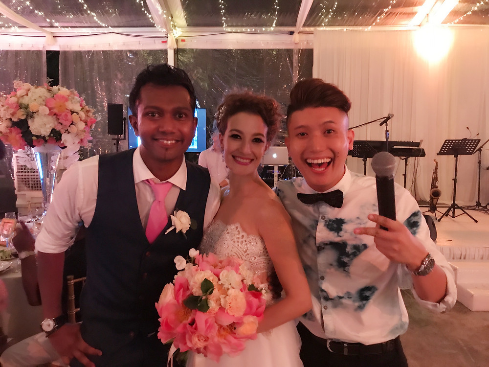 Emcee Singapore - Ainsley Chong, Wedding Dinner of Vicknesh Pillay and Silvia Checco