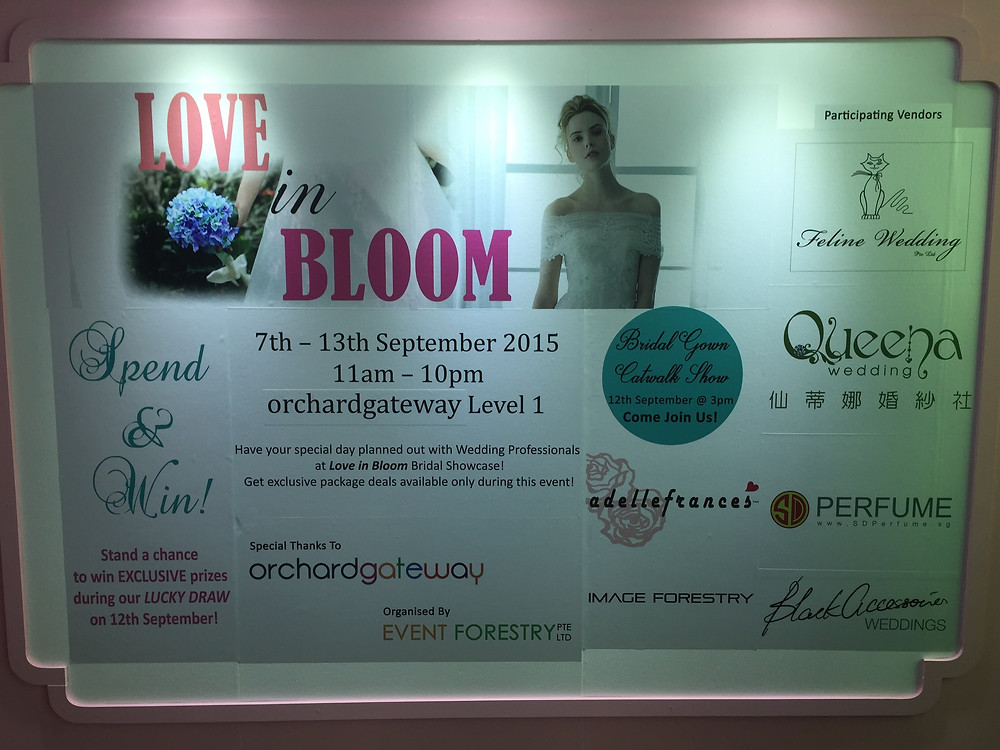 Emcee Singapore - Ainsley Chong, Love in Bloom Bridal Gown Runway Show