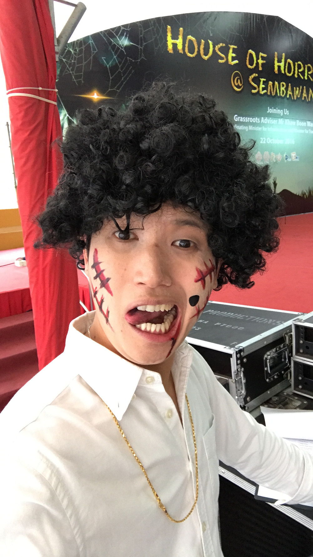 Singapore Emcee - Ainsley Chong, Sembawang CC House of Horrors 2 2
