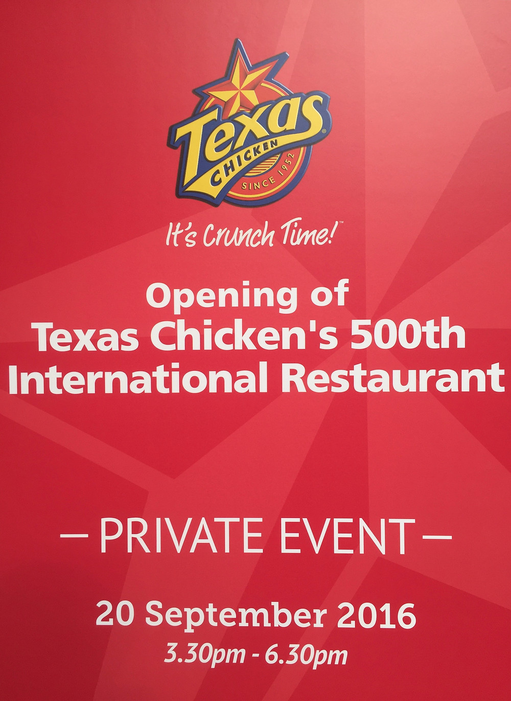 Emcee Singapore - Ainsley Chong, Opening of Texas Chicken's 500th International Restaurant 1