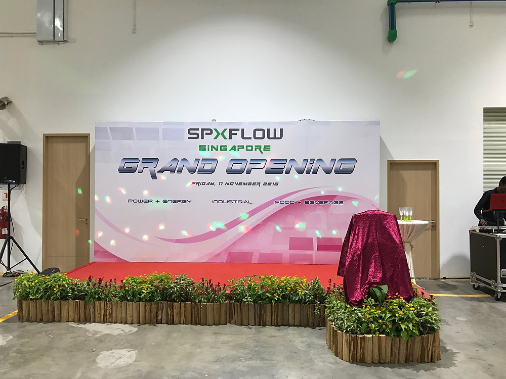 Emcee Singapore - Ainsley Chong, SPX Flow Office Opening 1