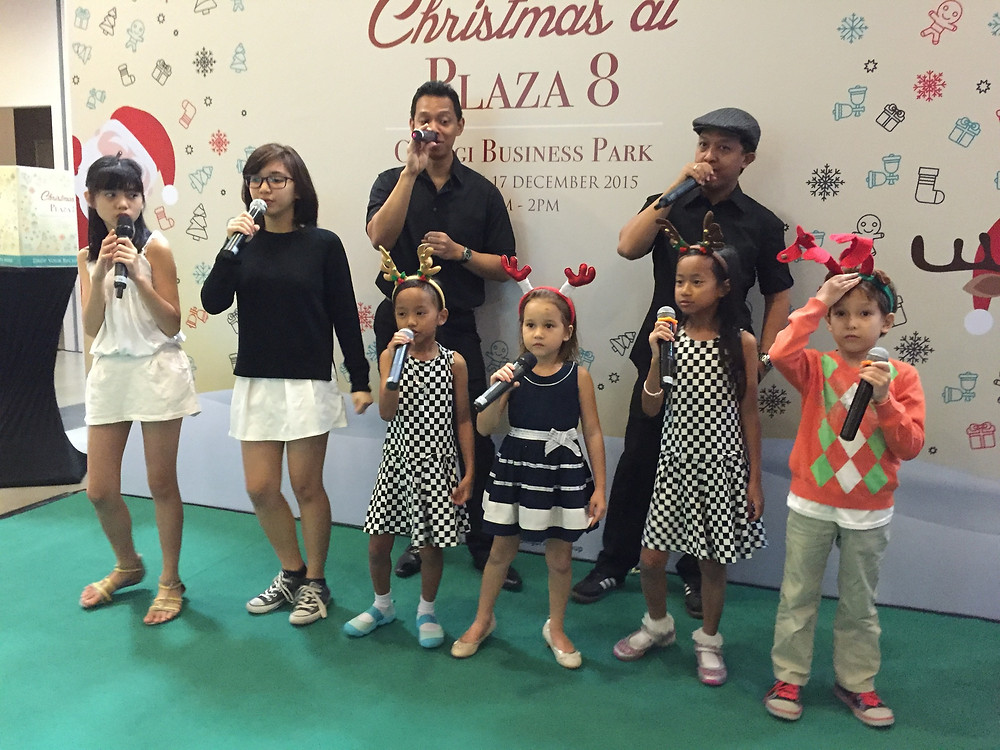 Emcee Singapore - Ainsley Chong, Ascendas Christmas Bazaar