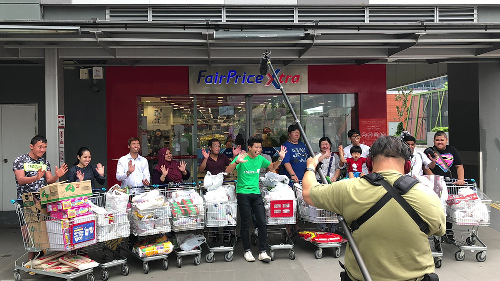 Emcee Singapore - Ainsley Chong, Grab Better 365 Supermarket Sweep Story Contest