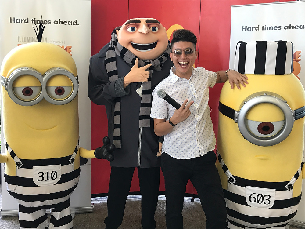 Emcee Singapore - Ainsley Chong, The Big Yellow Takeover at McDonald's, in conjunction with Despicable Me 3
