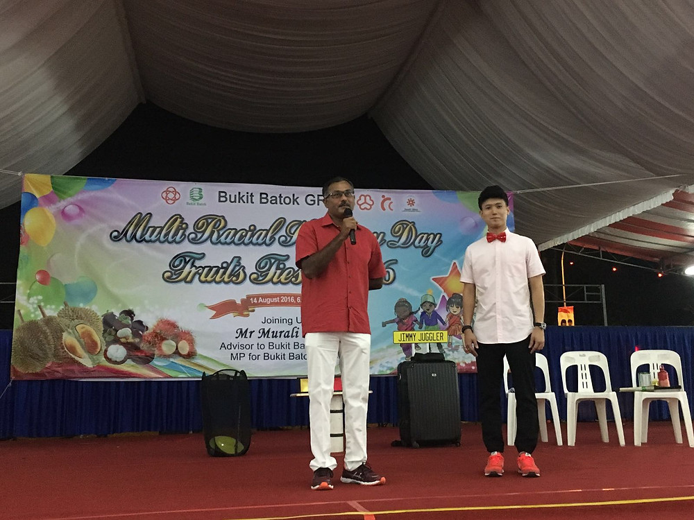 Emcee Singapore - Ainsley Chong, Bukit Batok Fruits Fiesta 2016 3