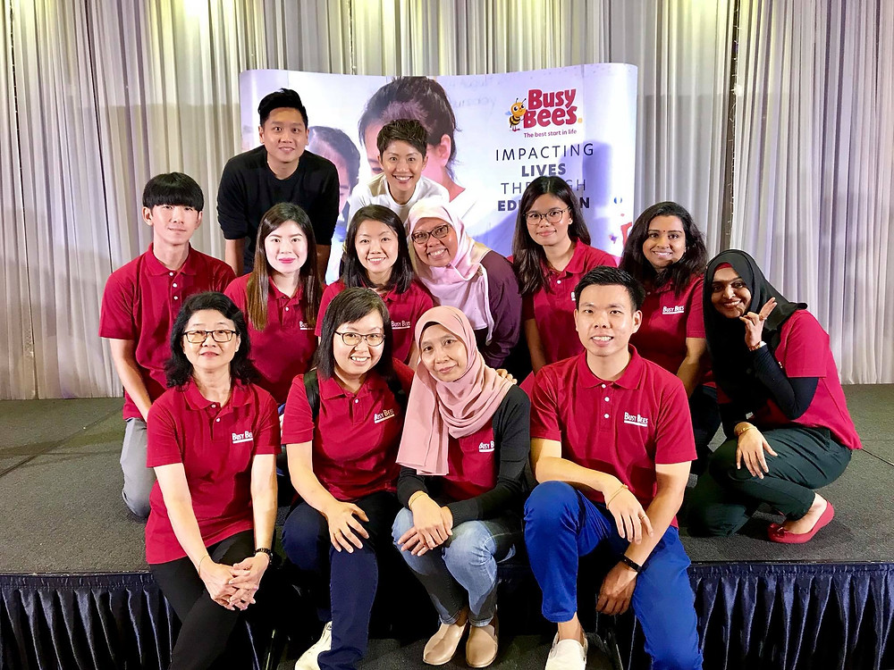 Emcee Singapore - Ainsley Chong, BeeFriends! with Busy Bees Career Fair
