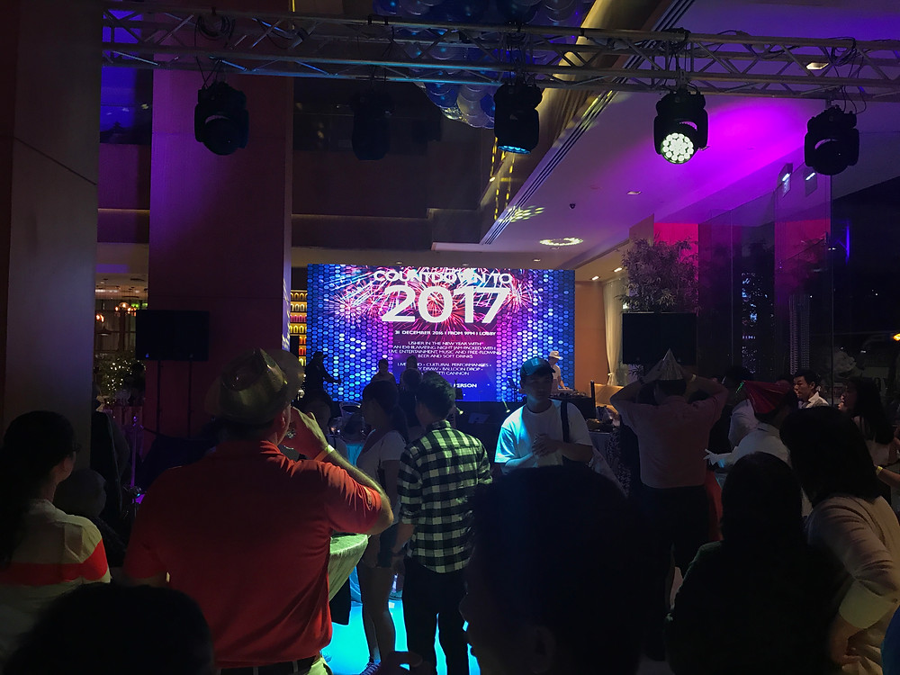 Emcee Singapore - Ainsley Chong, Amara Hotel Countdown Party 2016-2017
